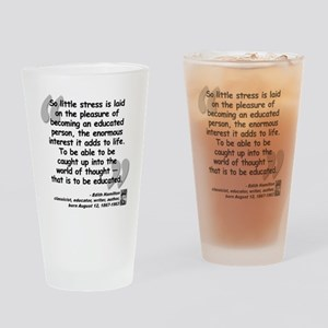 Hamilton Educated Quote Drinking Glass