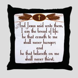 John 6 35 Wheat Throw Pillow