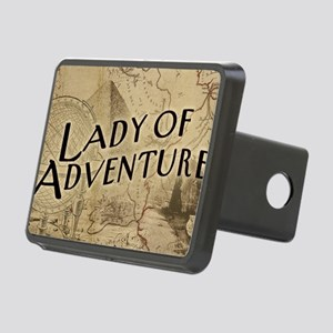lady-of-adventure_11x18h Rectangular Hitch Cover
