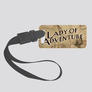 lady-of-adventure_11x18h Small Luggage Tag