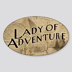 lady-of-adventure_11x18h Sticker (Oval)