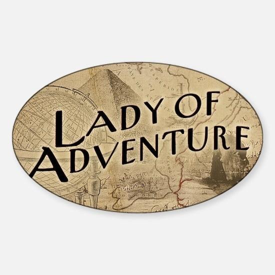 lady-of-adventure_11x18h Sticker (Oval)