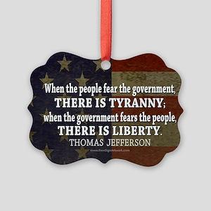 Jefferson Quote Liberty Picture Ornament
