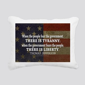Jefferson Quote Liberty Rectangular Canvas Pillow