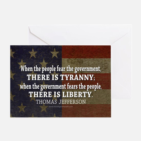 Jefferson Quote Liberty Greeting Card