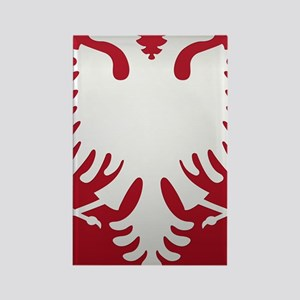 Albanian Eagle White on Red iPhon Rectangle Magnet