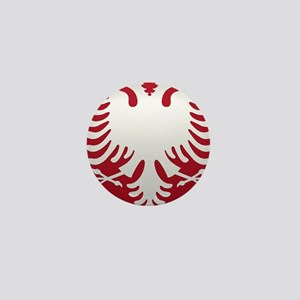 Albanian Eagle White on Red iPhone Cas Mini Button
