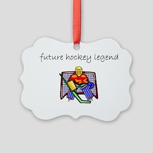 future hockey Picture Ornament