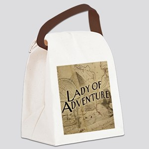 lady-of-adventure_15x18h Canvas Lunch Bag