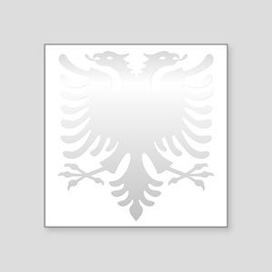 """Albanian Eagle Silver 56in Square Sticker 3"""" x 3"""""""