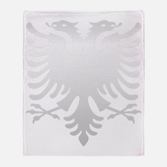 Albanian Eagle Silver 56in Throw Blanket