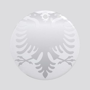 Albanian Eagle Silver 56in Round Ornament