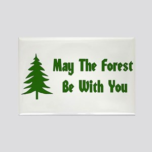 May The Forest Be With You Rectangle Magnet