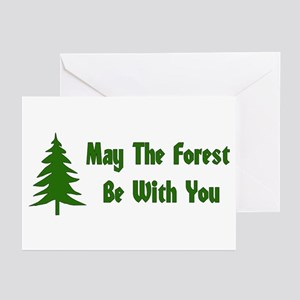 May The Forest Be With You Greeting Cards (Package
