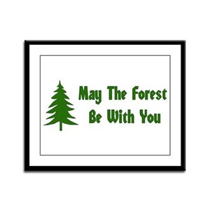 May The Forest Be With You Framed Panel Print