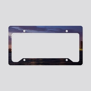 San Diego at night License Plate Holder