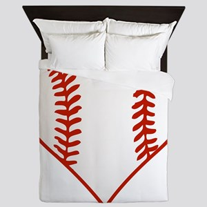 Baseball Heart Queen Duvet