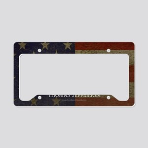 Jefferson Quote Liberty License Plate Holder