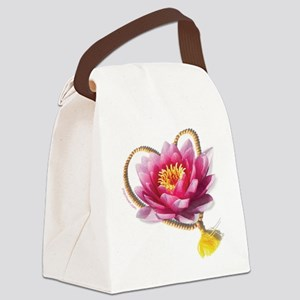 YogicHeart w curve URL 6x6 Canvas Lunch Bag