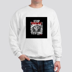 stop-animal-testing-pins-small-01 Sweatshirt