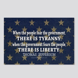 Jefferson Quote Liberty Postcards (Package of 8)