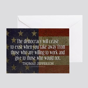 Democracy Quote Greeting Card