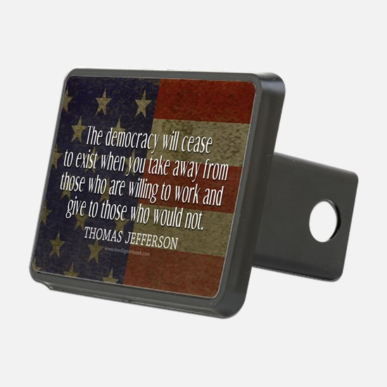 Democracy Quote Hitch Cover