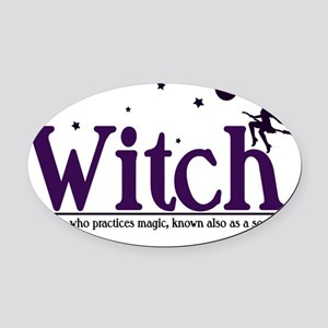 witch tshirt idea purple Oval Car Magnet