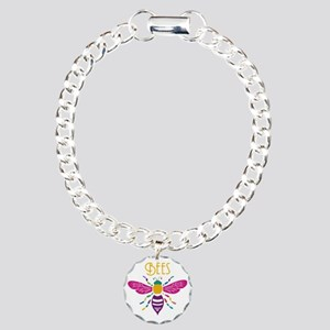 bee stamp colour Charm Bracelet, One Charm
