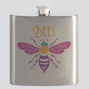 bee stamp colour Flask