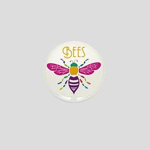 bee stamp colour Mini Button