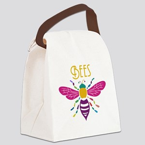 bee stamp colour Canvas Lunch Bag