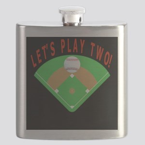Lets Play Two Baseball Gift iPhone 3G Case Flask