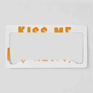 Kiss Me Im Newfie License Plate Holder