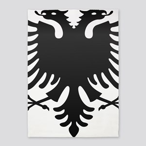 Albanian Eagle Carbon 5'x7'Area Rug