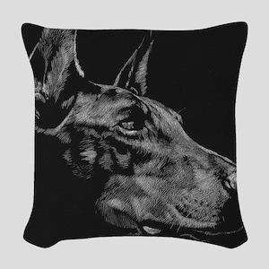 Doberman Woven Throw Pillow