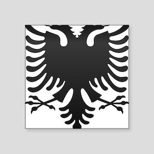 """Albanian Eagle Carbon Square Sticker 3"""" x 3"""""""