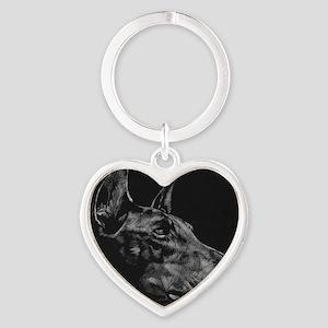 Doberman Heart Keychain