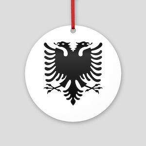 Albanian Eagle Carbon Round Ornament
