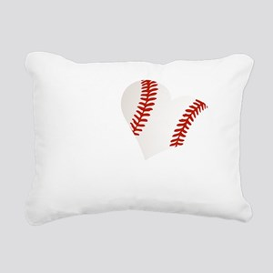 LoveBaseballHeart Rectangular Canvas Pillow