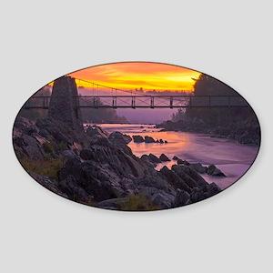 swing bridge Sticker (Oval)