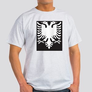Albanian Eagle White on Black iPhone Light T-Shirt