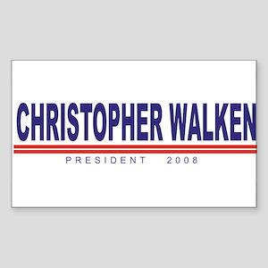 Christopher Walken (simple) Rectangle Sticker