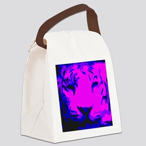 tigerface Canvas Lunch Bag