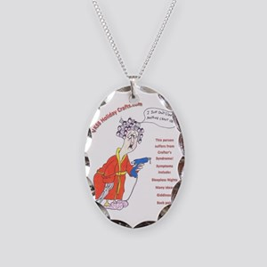 crafterssyndrome3 Necklace Oval Charm