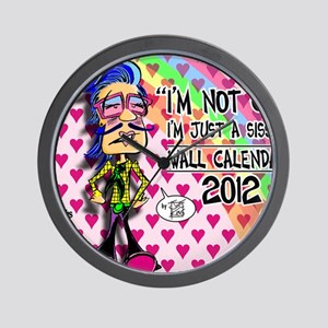 NOT-GAY-12-cover-cropped Wall Clock