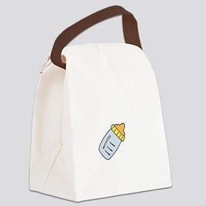Party Crib White Canvas Lunch Bag