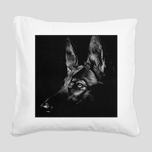 German Shepherd Square Canvas Pillow