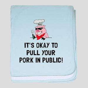 BBQ Pull Pork baby blanket