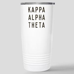 Kappa Alpha Theta Title Stainless Steel Travel Mug